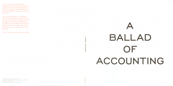 A Ballad of Accounting, outside cover